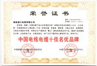 中国电线万博体育app手机登录十佳名优品牌