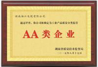 工业AA类企业牌匾