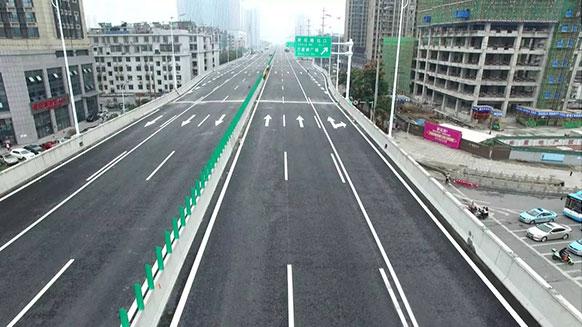 湘江电线电缆助力万家丽高架桥建设