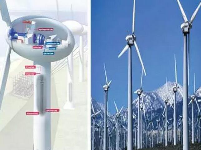 风力发电塔筒内电缆使用示意图
