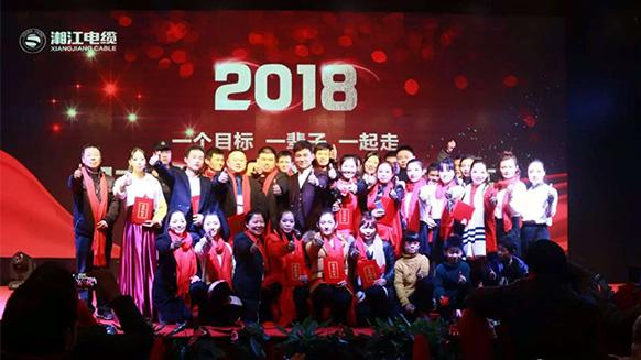 同奋斗*共分享*创新高——湘江电缆集团2018迎新暨表彰大会热烈召开