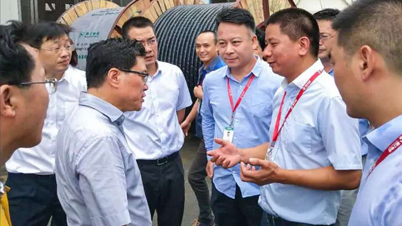 湖南省副省长陈文浩一行莅临湘江电缆考察指导工作